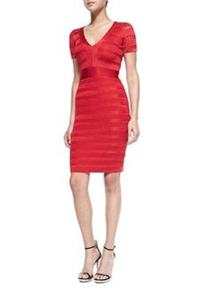 French Connection Summer Spotlight Bandage Dress, Royal Scarlet