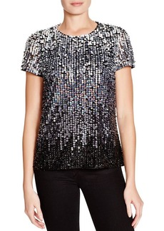 FRENCH CONNECTION Sunbeamer Sequin Top