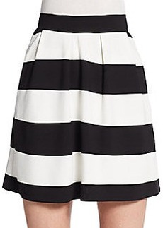 French Connection Sunshine Stripe A-Line Skirt
