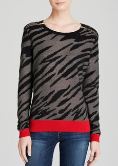 FRENCH CONNECTION Sweater - Siberian Tiger Sequin Knits