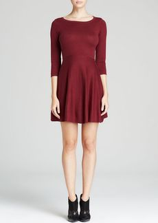 FRENCH CONNECTION Sweater Dress - Sydney Knits Solid Fit and Flare