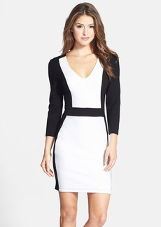 French Connection Textured Colorblock Body-Con Dress