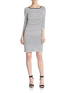 French Connection Tim Tim Striped Sheath Dress