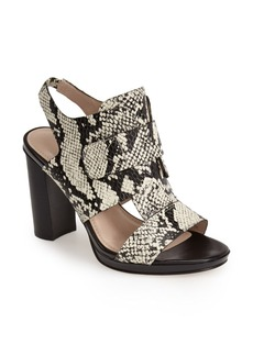 French Connection 'Toni' Snake Embossed Sandal (Women)