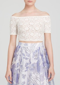 FRENCH CONNECTION Top - Havana Lace Crop