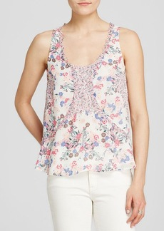 FRENCH CONNECTION Top - Water Garden Floral Georgette