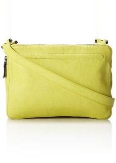 French Connection Triple Zip Large Shoulder Bag