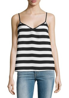French Connection V-Neck Stripe Tank Top