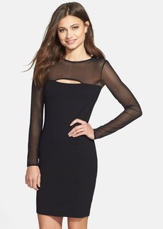 French Connection 'Valentine' Cutout Illusion Body-Con Dress