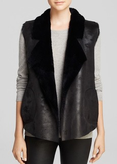 FRENCH CONNECTION Vest - Winter Rhonda Faux Shearling