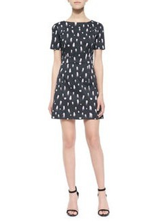 French Connection Vice Fit-and-Flare Printed Dress