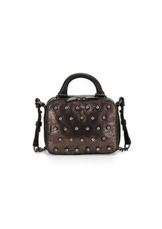 French Connection Vinny Studded Snake-Print Crossbody Bag