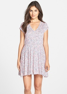 French Connection 'Water Garden' Print Tie Back Fit & Flare Dress