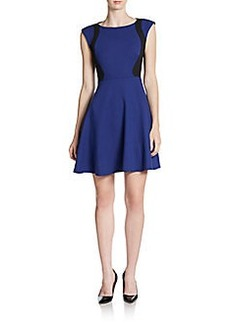 French Connection Whisper Colorblock A-Line Dress