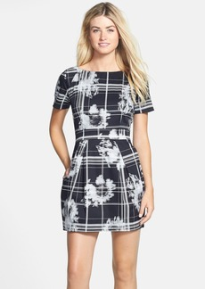 French Connection 'Wilderness Check' Print Fit & Flare Dress