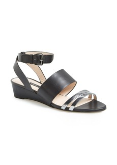 French Connection 'Wiley' Mixed Media Wedge Sandal (Women)