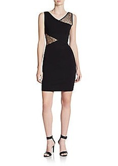 French Connection Winona Lace-Wrap Sheath Dress