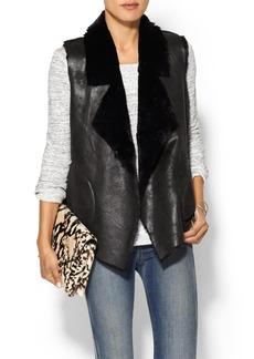 French Connection Winter Rhonda Faux Leather Vest