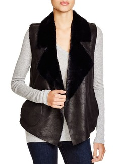FRENCH CONNECTION Winter Rhonda Faux Shearling Vest