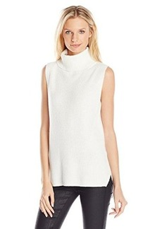 French Connection Women's Abel Knits Sleeveless Turtleneck Sweater, Winter White, Large