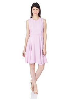 French Connection Women's Ana Crepe Fit and Flare Dress, Violet Vice, 10