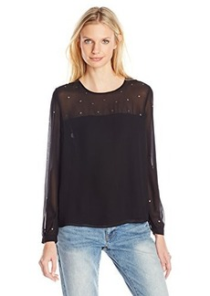 French Connection Women's Arctic Spell Top, Black, 6
