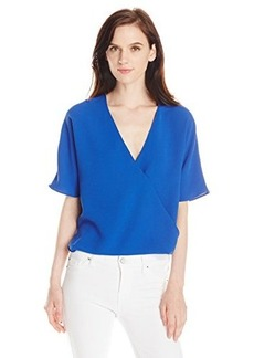 French Connection Women's Aro Crepe Blouse, Electric Blue, 2