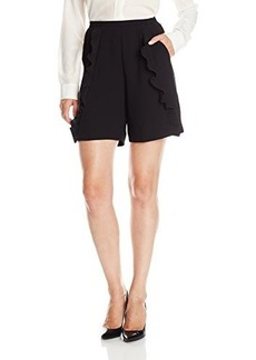 French Connection Women's Aro Crepe Shorts, Black, 10