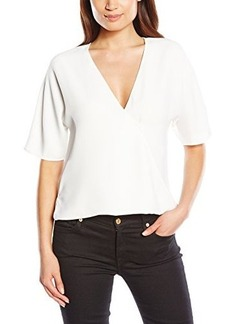 French Connection Women's Aro Crepe Top, Summer White, 12