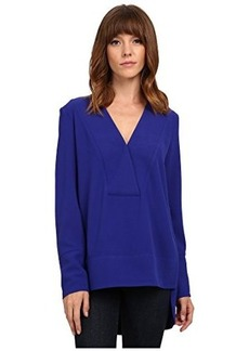 French Connection Women's Arrow Crepe Long Sleeve V Neck Top, Prince Rocks, 6