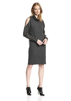 French Connection Women's Autumn Vhari Cold Shoulder Cowlneck Sweater Dress