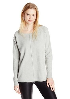 French Connection Women's Babysoft Veronica Exposed Seam Raglan Sweater, Grey Melange, Large