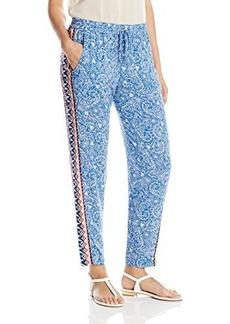 French Connection Women's Bali Batik Drape Pant, Electric Blue/Multi, 8