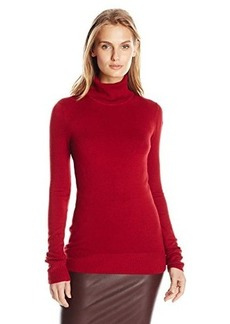 French Connection Women's Bambi Knit Turtleneck Sweater, Red Runaway, Large