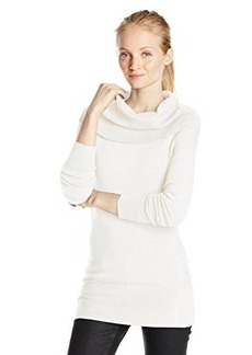 French Connection Women's Bambi Solid Cowl Neck Sweater, Winter White, X-Small