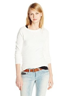 French Connection Women's Bambi Solid Raglan Sweater, Winter White, X-Small