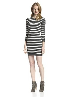 French Connection Women's Bambino 3/4 Sleeve Stripe Sweater Dress