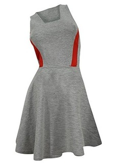 French Connection Women's Bright Lucy Flare Dress, Grey/Souk Sunrise, 10
