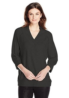 French Connection Women's Brighton Vhari V-Neck Sweater, Black, Medium
