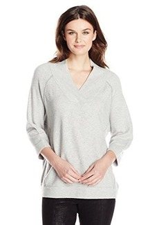 French Connection Women's Brighton Vhari V-Neck Sweater, Grey Melange, Small
