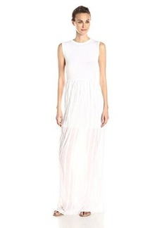 French Connection Women's Carnival Ruffle Sleeveless Maxi Dress, Summer White, 6
