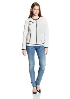 French Connection Women's Chanel Inspired Quilted Jacket