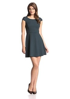 French Connection Women's Classic Whisper Ruth Cap-Sleeve Fit-and-Flare Dress