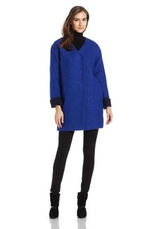 French Connection Women's Collarless Cocoon Sweater Coat