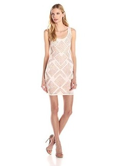 French Connection Women's Confetti Grid Sequin Sleeveless Dress