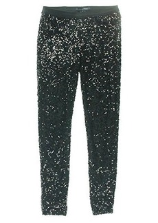 French Connection Women's Cosmic Sparkle Pants, Black, Small