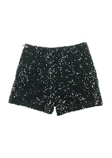 French Connection Women's Cosmic Sparkle Shorts, Black Hologram, 4