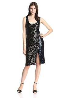 French Connection Women's Cosmic Sparkle Tank Dress, Nocturnal/Black Hologram, 8