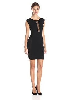 French Connection Women's Cruz Danni Dress, Black/Black, 4