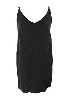 French Connection Women's Crystal Crepe Shift Dress, Black, 6